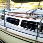 Freshly installed retrofit sailboat windows.